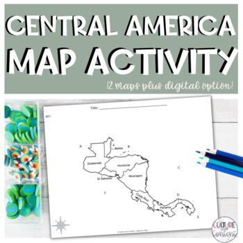 Central America Map Activity || Geography
