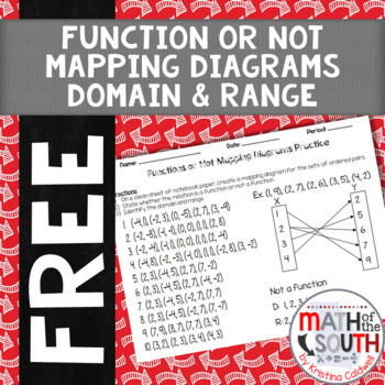 Function Or Not - Mapping Diagram - Domain & Range Practice