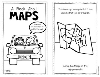 Mapping Emergent Reader for Kindergarten and First Grade Social Studies