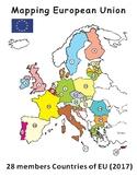 Mapping European Union: 28 Members Countries of EU