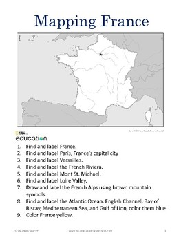 Mapping France