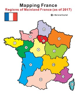 Mapping France: Regions of Mainland France