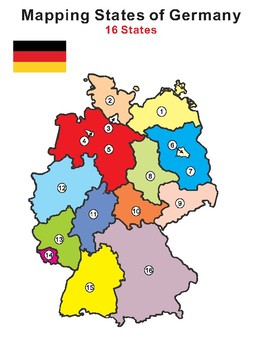 Map Of States Of Germany.Mapping Germany 16 States Of Germany