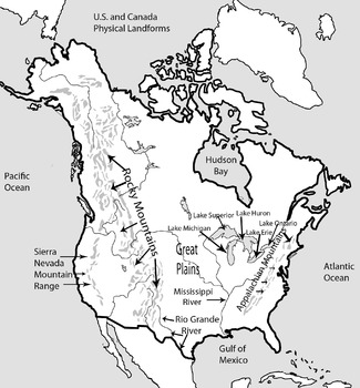 Complete Mapping Packet Geography United States and Canada North America