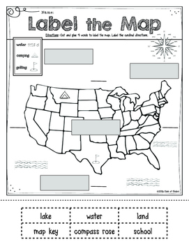 Mapping: Label It! First Grade and Kindergarten Social Studies