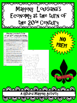 Mapping Louisiana's Turn of the 20th Century Economy--No PREP!