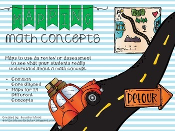 Mapping Math Concepts {3rd Grade Common Core Aligned}