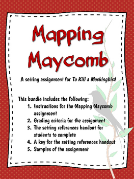 Mapping Maycomb: A Setting Assignment for To Kill A Mockingbird | TpT