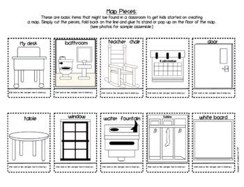 Mapping My Classroom {Pop Up} Kindergarten and First Grade Social Studies
