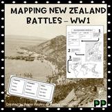 Mapping  New Zealand Battles - WW1