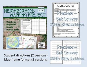 Mapping Project: Create a map of an imaginary neighborhood (w/ differentiation)