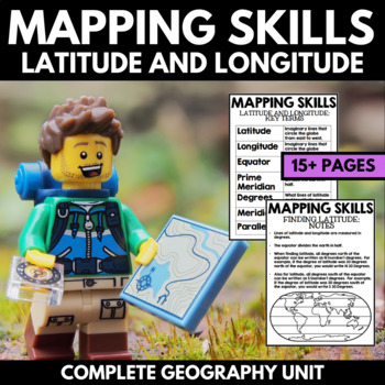 Mapping Skills And Activities - Geography - Latitude and Longitude