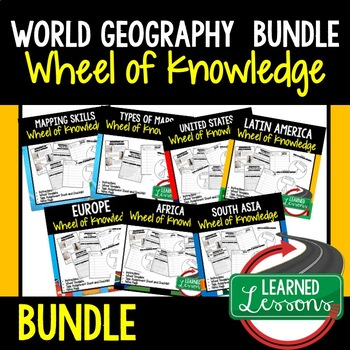 Mapping Skills Activity, Wheel of Knowledge (Interactive Notebook)