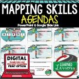 Mapping Skills Agenda PowerPoint & Google Slides, World Ge