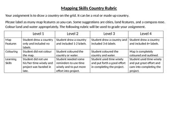Mapping Skills Assessment
