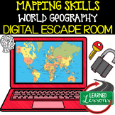 Mapping Skills Digital Escape Room, Mapping Skills Breakou