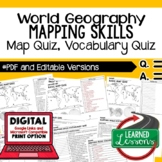 Mapping Skills Map Quiz, Mapping Skills Vocabulary Quiz Ge