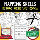 Mapping Skills Picture Puzzle, Test Prep, Unit Review, Study Guide