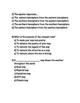 Mapping Skills Quiz
