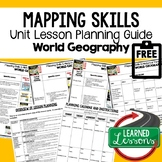 Mapping Skills Lesson Plan Guide for World Geography, Back