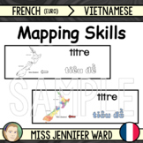 Mapping Skills Word Wall in French / Vietnamese