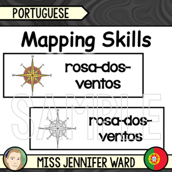 Mapping Skills Word Wall in Portuguese