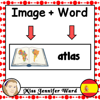 Mapping Skills Word Wall in Spanish
