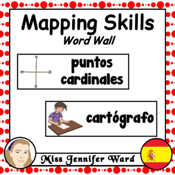 Mapping Skills Word Wall in Spanish #memorialtptsale