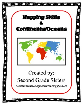 Continents and oceans worksheets for third grade