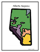 Mapping Skills and Matching Game-  The 6 Natural Regions of Alberta, Canada