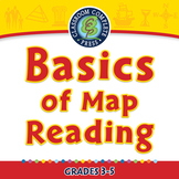 Mapping Skills with Google Earth™: Basics of Map Reading - NOTEBOOK Gr. 3-5