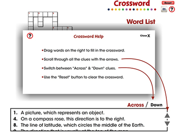Mapping Skills with Google Earth™: Crossword - MAC Gr. PK-2