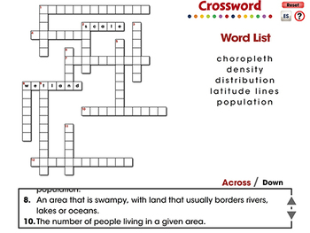 Mapping Skills with Google Earth™: Crossword - NOTEBOOK Gr. 6-8