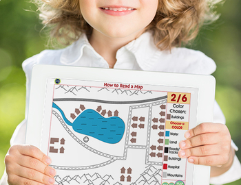 Mapping Skills with Google Earth™: How to Read a Map -Activity NOTEBOOK Gr. PK-2