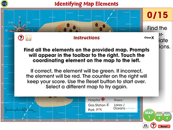 Mapping Skills with Google Earth™: Identifying Map Elements Activity MAC Gr. 6-8
