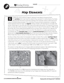 Mapping Skills with Google Earth: Map Elements Gr. 6-8