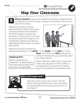 Mapping Skills with Google Earth: Map Your Classroom Gr. PK-2
