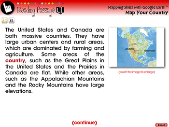 Mapping Skills with Google Earth™: Map Your Country - NOTEBOOK Gr. 3-5