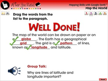 Mapping Skills with Google Earth™: Map the World - NOTEBOOK Gr. PK-2