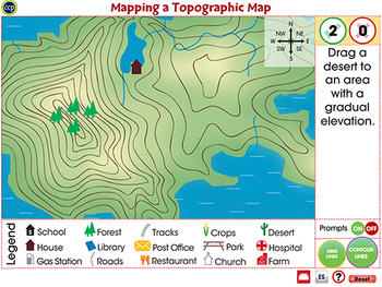 Mapping Skills with Google Earth™:Mapping a Topographic Map Activity MAC Gr. 3-5