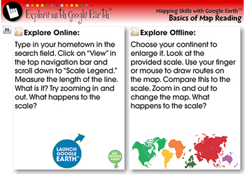 Mapping Skills with Google Earth™: Measuring the Scale -Explore NOTEBOOK Gr. 3-5