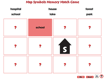 Mapping Skills with Google Earth™: Memory Match Game - NOTEBOOK Gr. PK-2