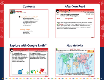 Mapping Skills with Google Earth™ - NOTEBOOK Gr. 3-5