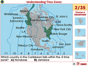 Mapping Skills with Google Earth™: Understanding Time Zones -Activity PC Gr. 3-5