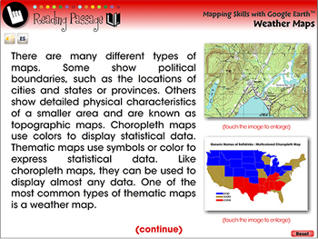 Mapping Skills with Google Earth™: Weather Maps - NOTEBOOK Gr. 6-8