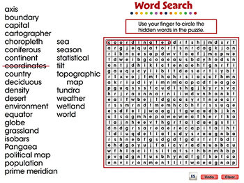 Mapping Skills with Google Earth™: Word Search - MAC Gr. 6-8