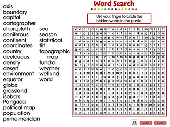 Mapping Skills with Google Earth™: Word Search - PC Gr. 6-8