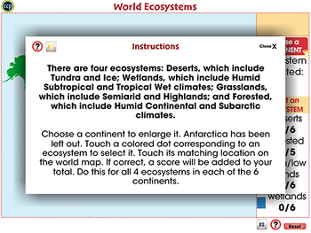 Mapping Skills with Google Earth™: World Ecosystems - Activity -NOTEBOOK Gr. 6-8