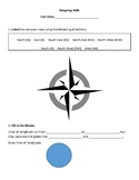 Mapping Skills worksheet CANADA
