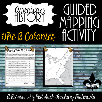 Mapping The 13 Colonies Activity--No PREP!